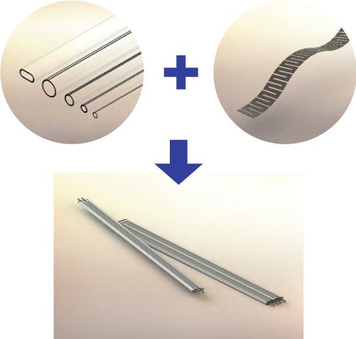 石英管を使用した帯状ヒータの開発